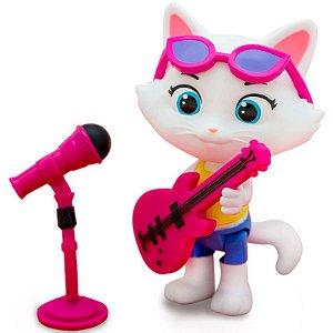 Figura de Ação Colecionável - 44 Gatos - Milady com Microfone e Baixo - Toyng