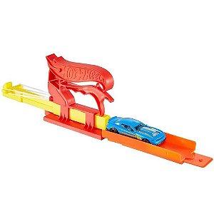 Brinquedo Hot Wheels Lançador com Carrinho Vermelho Fth84 - Mattel