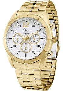 Relógio Condor Cronômetro Masculino Dourado – KY80141/4B