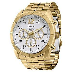 Relógio Condor Cronômetro Masculino Dourado KY80141/4B