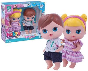 Boneca Babys Collection Mini Gemeos - Super Toys