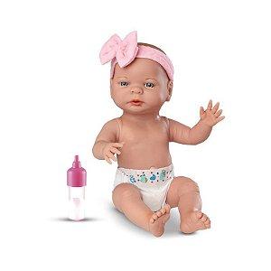 Boneca Bebê Primeira Mamadeira 35 Cm Roma Jensen