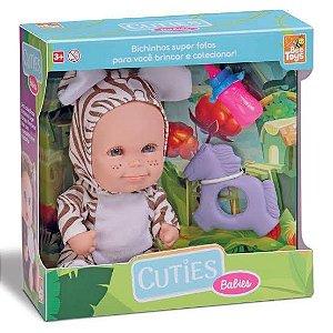 Boneca Cuties Filhotes c/ Mordedor e Mamadeira - Bee Toys
