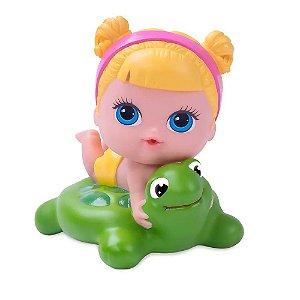 Boneca Lil Cutesies banho loira tartaruga - Cotiplás
