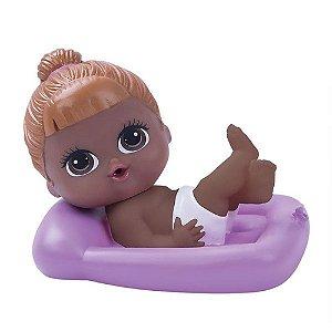 Boneca Lil Cutesies Banho Negra Colchão Roxo - Cotiplás