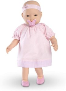 Boneca claire com vestido roma com cheirinho de bebê