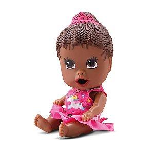 Boneca Little Dolls Come Come Negra - Diver Toys