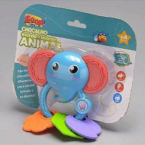 Chocalho Morde Morde Animal Elefante - Zoop Toys