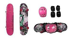 Kit Skate Feminino Com Acessórios - Unik Toys