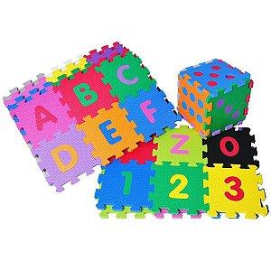 Tapete Educativo EVA Numeros/Letras com 10 peças