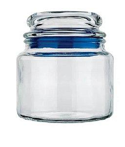 Pote de Vidro Multiuso Azul 560ml Euro