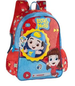 Mochila Infantil Luccas Neto Frases Colorida - Clio Styes