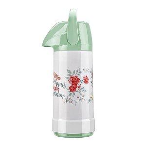 Garrafa Térmica GLT Pressão Especial Mães 1L Verde