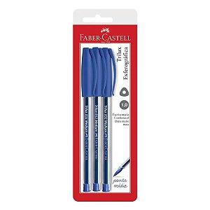 Caneta Esferográfica Faber-Castell Trilux 3 Un Azul