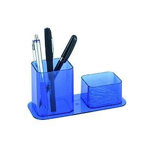 Porta Canetas Duplo Azul Dello