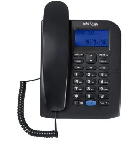 Telefone c/identificador de chamadas preto TC60ID Intelbras