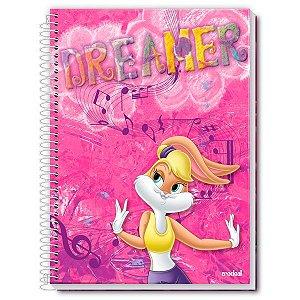 Caderno Universitário Dreamer Looney Tunes Feminino 1 Matéria 96 Folhas - Credeal