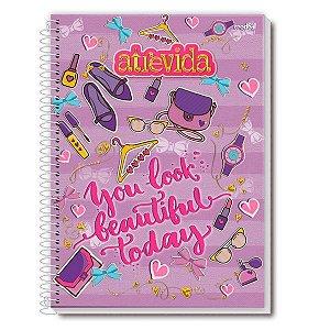 Caderno Universitário Atrevida Lilas 1 Matéria 96 Folhas - Credeal