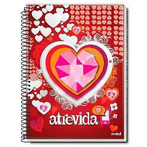 Caderno Universitário Atrevida Vermelho 1 Matéria 96 Folhas - Credeal