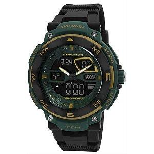 Relógio Mormaii Mo13611N/8D - Preto e verde