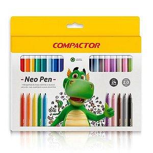 Caneta hidrográfica Neo Pen Gigante 24 cores