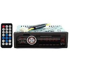 Rádio Automotivo 100W USB MP3 SD RCA Controle Remoto Hoopson 004