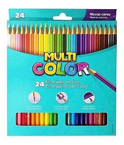 Lápis De Cor Ecolápis 24 Cores Super Multicolor