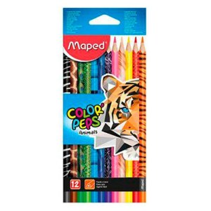 Lápis de Cor 12 Cores Color Peps Animals Maped