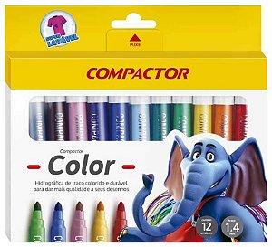 Hidrográfica Color 12 Cores Compactor