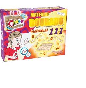 Material Dourado Individual Em Madeira Com 111 Peças