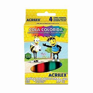 Cola colorida c/4 und - Acrilex