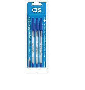 Caneta Estrográfica Cis Silver Stick 1.0MM 3Azuis