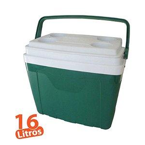 Caixa Térmica 16 Litros Verde Com Alça E Porta Copos - Antares