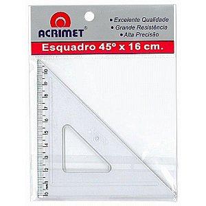 Esquadro poliestireno 45°X16cm Acrimet