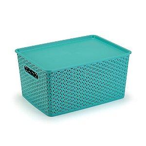 Caixa Organizadora Rattan Tiffany  c/ Tampa - 16 Litros - Plasnorthonw\