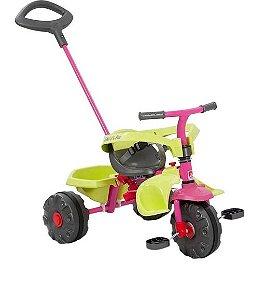 Triciclo Smart Plus Rosa E Verde - Bandeirante