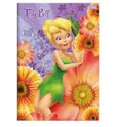 Caderno Brochura Tinker Bell Lilas 96 Folhas - Foroni