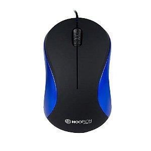 Mouse Usb Óptico Azul - Hoopson
