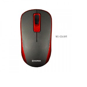 Mouse Usb Wireless Ms-036wr Vermelho - Hoopson