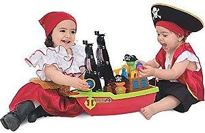 Barco Aventura Pirata com Caixa - Mercotoys