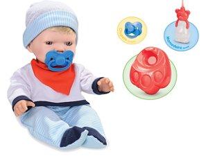 Boneco Bebezinho Real Faz Xixi Menino - Roma Brinquedos