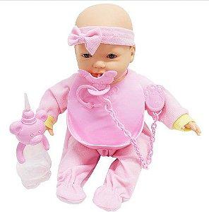 Boneca New Mini Bebê Mania Baba - Roma