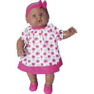 Boneca Bolita Sons de Bebê Negra - Roma Jensen