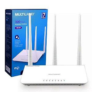 Roteador Wireless 300Mpbs com 3 Antenas - Multilaser