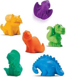 Brinquedo para Bebe Coleção Dinos Banho Caixa com 6 UN Roma