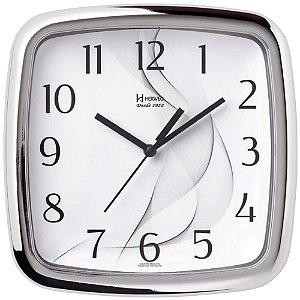 Relógio De Parede Analógico Herweg Cromado