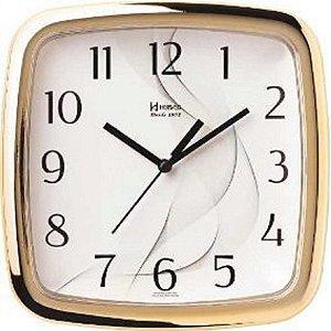 Relógio De Parede Análgico Mecanismo Herweg Dourado
