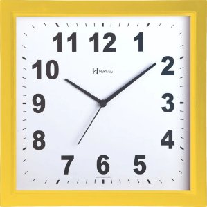 Relógio De Parede Quadrado 30 Cm Herweg
