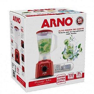 Liquidificador Vermelho Power Mix 2 Velocidades 127V 550W - Arno