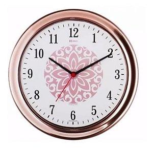 Relógio Parede Rosê 30cm Tictac Cozinha Herweg